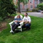 Vicky Pero with Instructor John Malarkey
